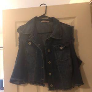 Crop Blue Jean Jackets